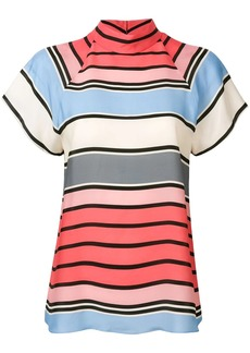 Armani striped short sleeve blouse