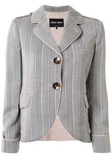 Armani striped single breasted blazer