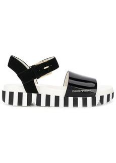 Armani striped sole sandals