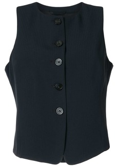 Armani striped tailored waistcoat