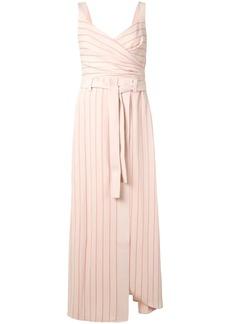 Armani striped wrap dress