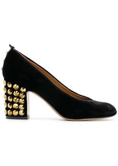 Armani studded heel pumps