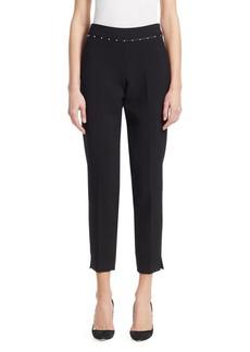 Armani Studded-Waist Pants