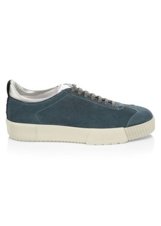 Armani Suede Lace-Up Sneakers