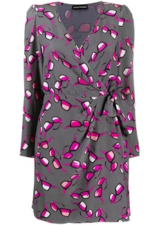 Armani sunglasses print wrap dress
