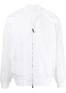 Armani swirly patterned bomber jacket