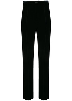 Armani tailored velvet trousers