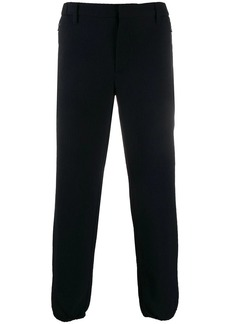 Armani tapered check trousers