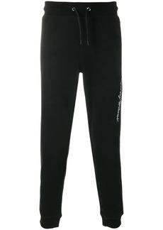 Armani tapered logo track pants