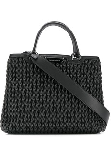 Armani teardrop quilted tote bag