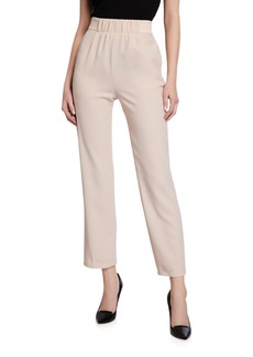 Armani Tech Cady Pants with Satin Waistband