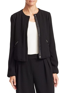 Armani Tech Crepe Padded Cropped Jacket