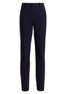 Armani Techno Cady Stretch Flat-Front Pants