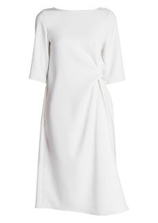 Armani Techno Cady Twist-Front Midi Dress