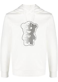 Armani teddy-print hoodie