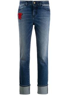 Armani teddybear patch jeans