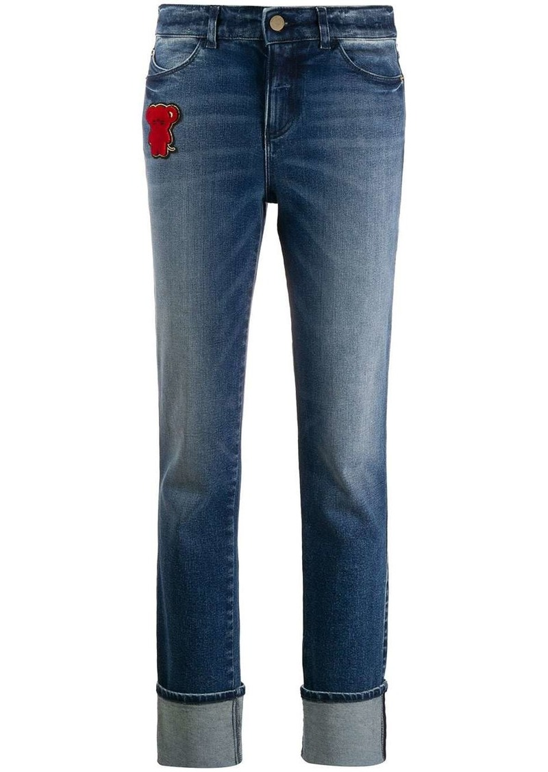 Armani teddybear patch jeans