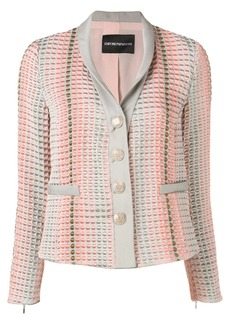 Armani textured button blazer