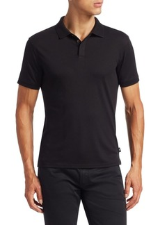 Armani Textured Collar Slim-Fit Polo Shirt