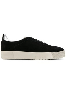 Armani textured colour block sneakers
