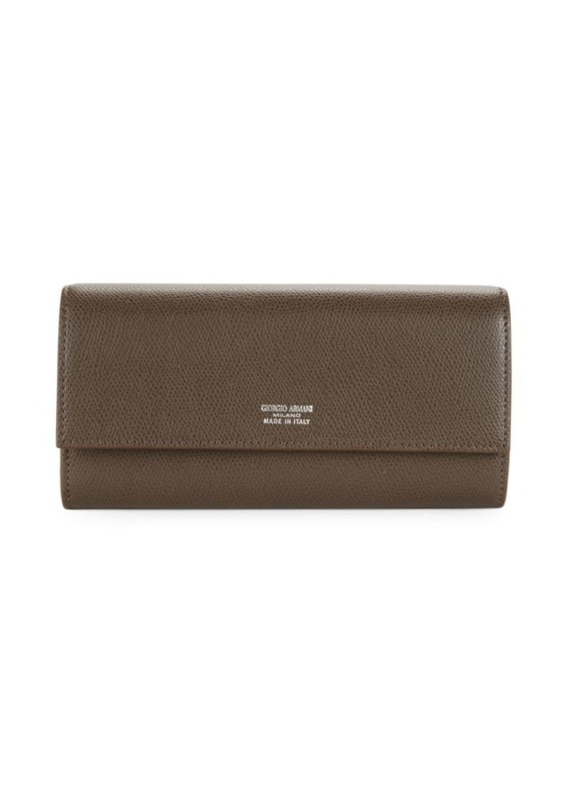 Armani Textured Continental Wallet