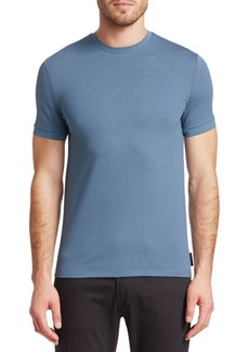 Armani Textured Cotton Crewneck Tee