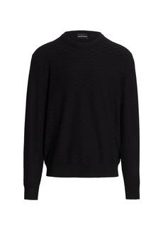 Armani Textured Crewneck Pullover