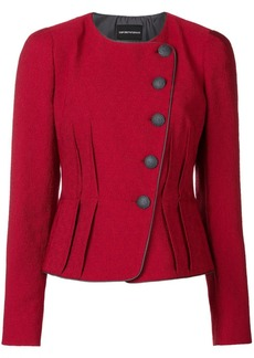 Armani textured fitted jacket