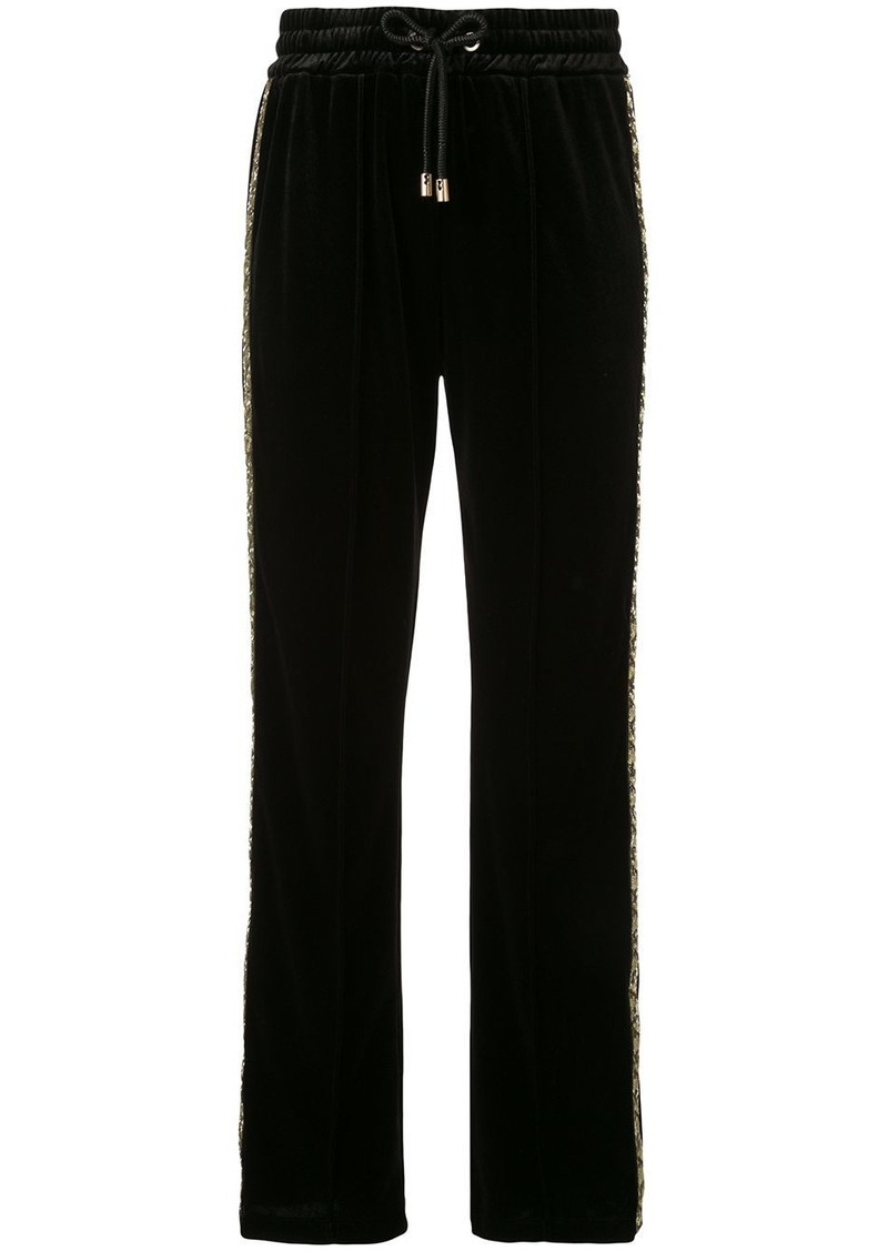 Armani textured glitter detail track pants