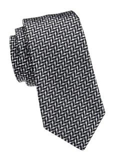Armani Micro Square Silk-Blend Tie
