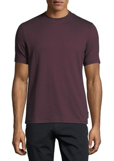 Armani Textured-Knit Crewneck T-Shirt
