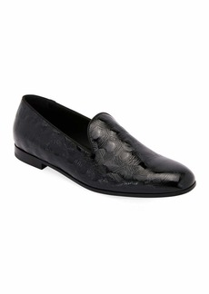 Armani Textured Patent Leather Slip-On Loafer
