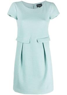 Armani textured-pattern dress
