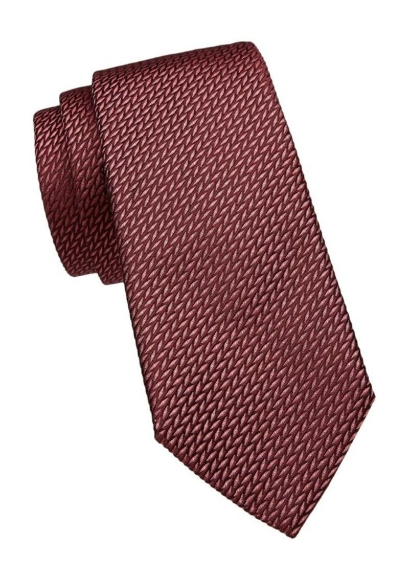 Armani Textured Silk-Blend Tie