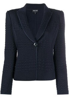 Armani textured single-breasted blazer
