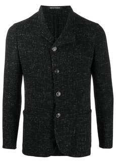 Armani textured single-breasted blazer