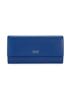 Armani Textured Snap-Flap Wallet
