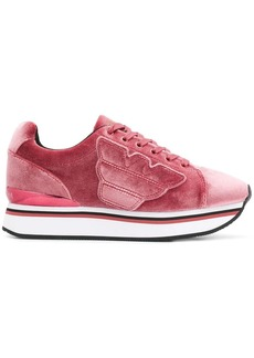 Armani textured sneakers