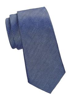 Armani Textured Solid Silk-Blend Tie