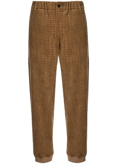 Armani textured straight leg trousers