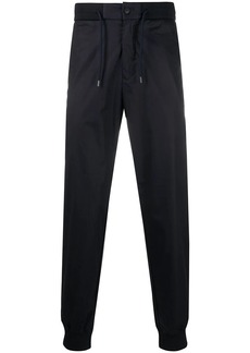Armani textured style cropped track pants