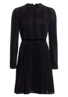 Armani Textured Velvet Fit-&-Flare Dress