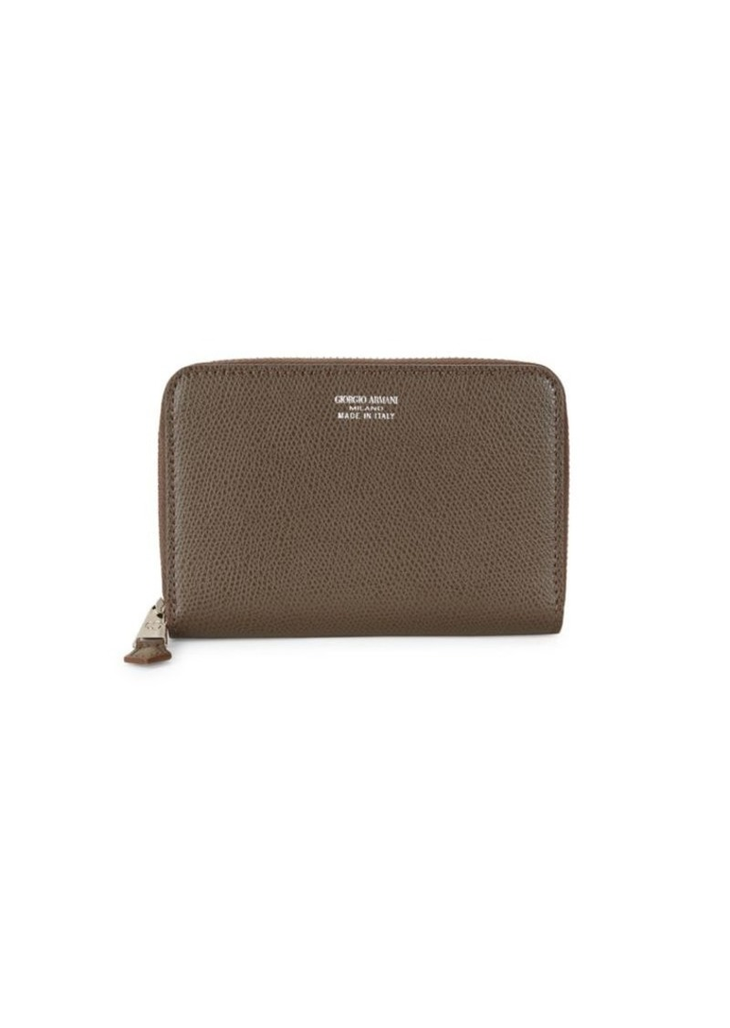 Armani Textured Zip-Around Wallet