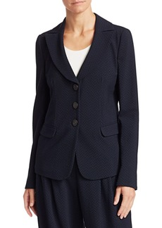 Armani Three-Button Chevron Blazer