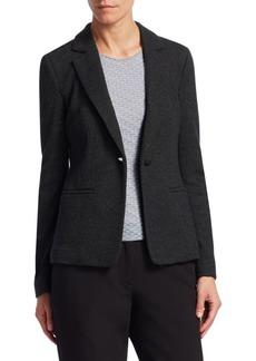 Armani Tie-Bar One-Button Jacket