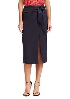 Armani Tie Front Skirt