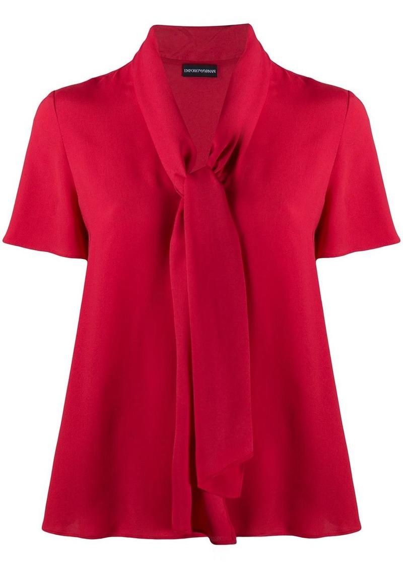 Armani tie neck blouse