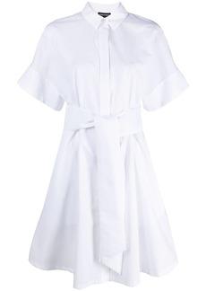Armani tied-waist cotton shirt dress