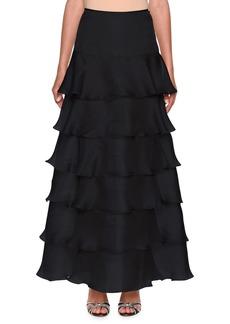 Armani Tiered Silk-Organza Ruffle Skirt