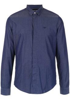 Armani tiny dot patterned shirt